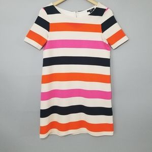 H&M Color Block Stripe Short Sleeve Shirt Dress S